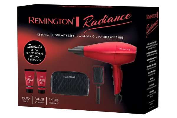 Remington Radiance 2300W Hair Dryer with Argan Oil Shampoo/Conditioner, Brush & Pouch (AC4005AU)