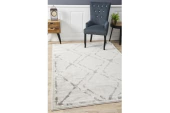 Felicia Silver & Grey Soft Abstract Rug 330x240cm