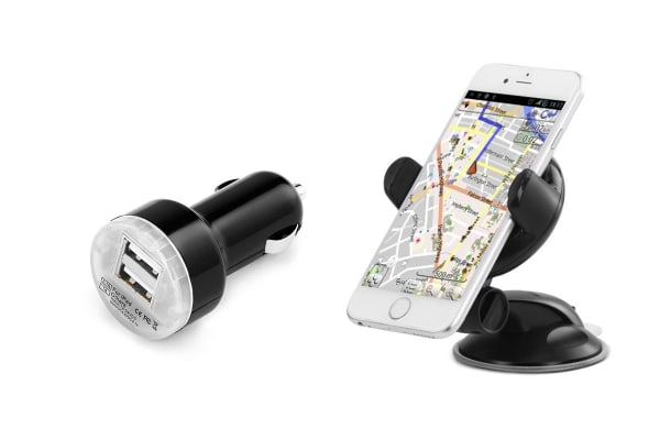 Kogan Universal Phone Holder & Rapid Car Charger Kit