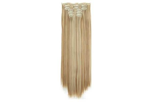 "TODO Twin 24"" High Grade Medium Blonde Straight 6Piece 17Clips Hair Extension 2X"