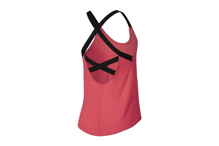 Nike Women's Dri-Fit Elastika Tanks (Pink/Black, Size S)