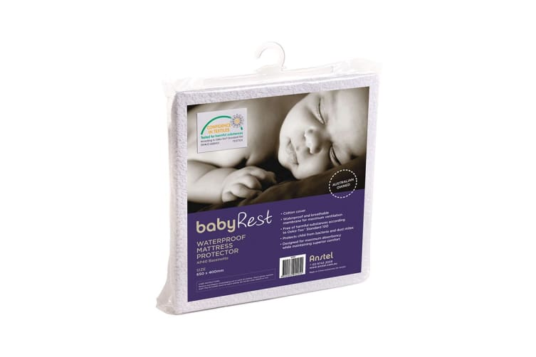 Babyrest Waterproof Mattress Protector - Bassinet (AP40)