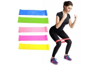 Flat Band Loop Exercise Pilates Yoga Heavy Resistance Physio Stretch Aerobics