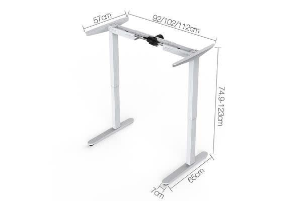 Electric Height Adjustable Desk Frame (White)
