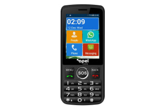 Opel Mobile Smart Big Button (3G, Keypad) - Black