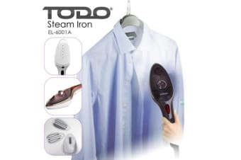 TODO 1000W Portable Steam Brush Iron / Wet and Dry Garment Steamer - Black