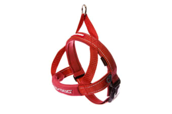 Ezydog Small Red Quick Fit Dog Harness (46cm to 55cm) Ezy Dog