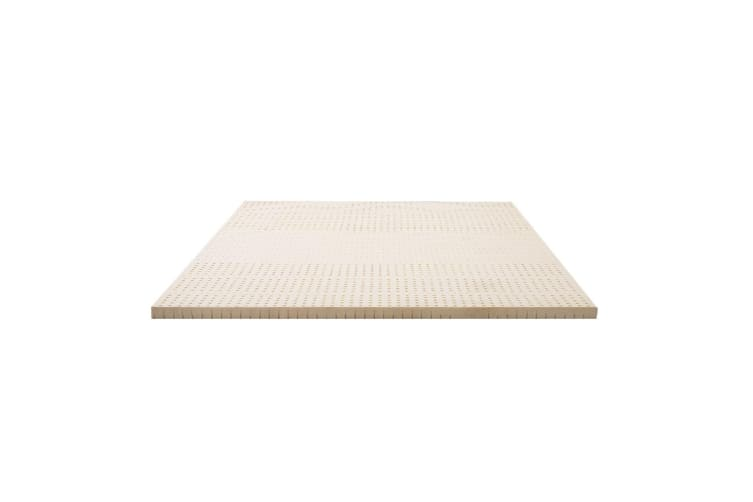 Giselle Bedding 7 Zone Pure Natural Latex Mattress Topper Underlay Double 5cm