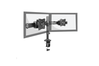 Brateck Lumi LDT06-C02 Outstanding Dual LCD Desk Mounts with Desk Clamp VESA 75/100mm Up to 27""