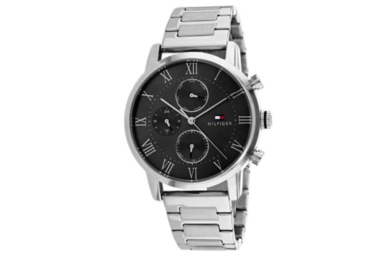 Tommy Hilfiger Men's Sophisticated Sport Watch (Grey Dial, Stainless Steel Bracelet)