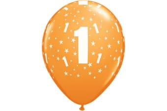 Qualatex 11 Inch Multicoloured Latex Birthday Number Balloons (Age 1-100) (Multicoloured) (80)
