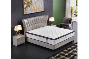 Ergopedic Mattress 5 Zone Latex Pocket Spring Mattress In A Box 30cm All Sizes - Double - White, Grey, Black