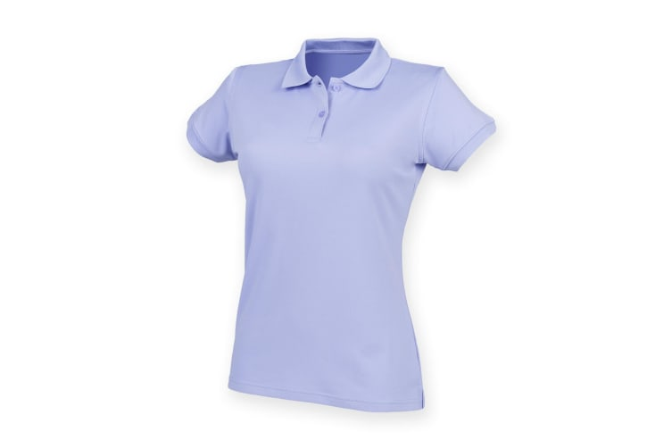 Henbury Womens/Ladies Coolplus® Fitted Polo Shirt (Lavender) (3XL)