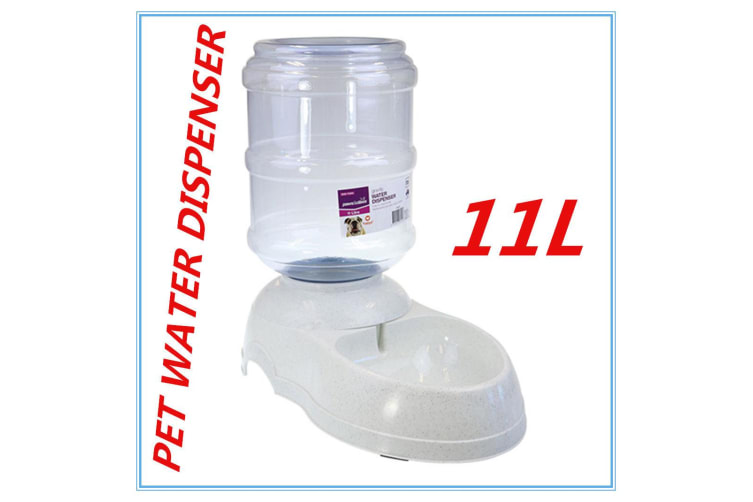 11L Automatic Plastic Pet GRAVITY Dog Cat Water Feeder Bowl DRINK Fountain  Dispenser