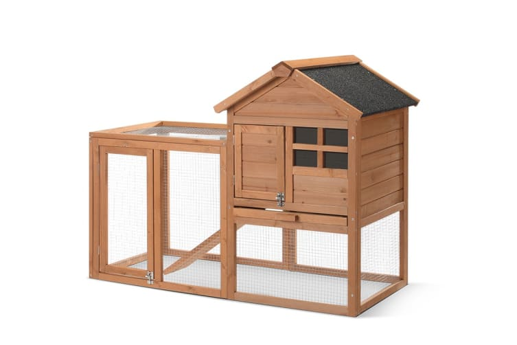 Pawever Pets Wooden Cottage Rabbit Hutch