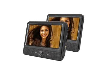 "9"" Twin Screen In Car Portable DVD Player"