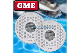 GME S5 WHITE 163MM MARINE SPEAKERS OUTDOOR WATERPROOF FLUSH CD STEREO AM FM PAIR