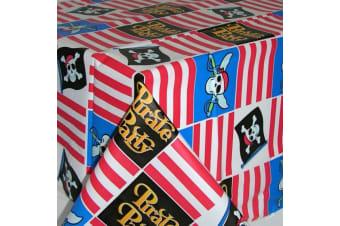 Amscan Plastic Tablecover - Pirate Party (White/Blue/Red) (One Size)