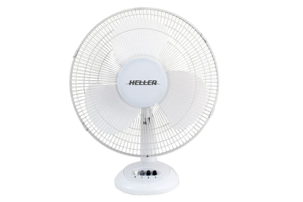 Heller 40cm Desk Fan - White (HHDF40S)