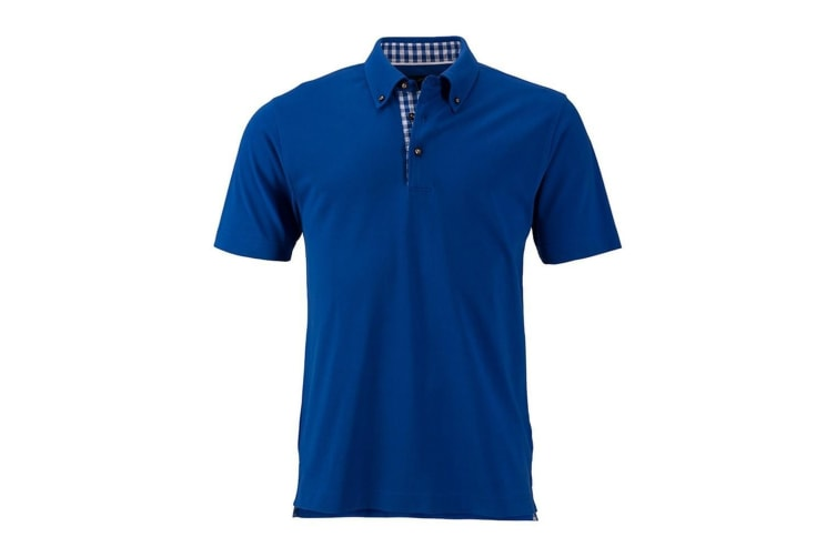 James and Nicholson Mens Traditional Polo (Royal Blue) (L)