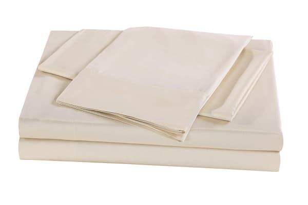 Royal Comfort 100% Natural Bamboo Bed Sheet Set (Queen, Beige)