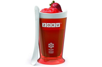 Zoku Slush & Shake Maker Frozen Slushie Milkshake Maker Red