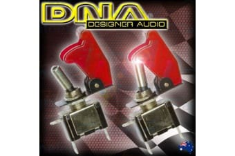 DNA 2x RED MISSILE SWITCH  LED TOGGLE 12V 12 VOLT ON OFF TOGGLE 4WD RACE ATS022