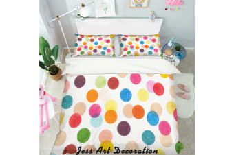 3D Color Speckle Pattern Quilt Cover Set Bedding Set Pillowcases  119-Single