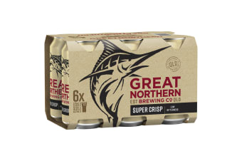 Great Northern Brewing Beer Super Crisp Lager 24 x 375mL Cans