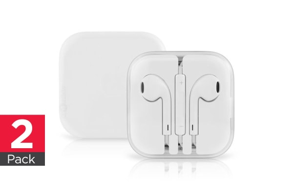 Apple EarPods with 3.5mm Headphone Plug - (2 Pack)