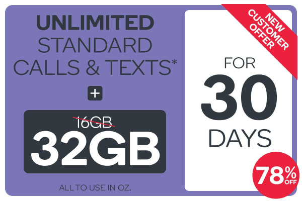 Kogan Mobile Prepaid Voucher Code: LARGE (30 Days | 32GB) - Double Data