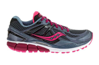 Saucony Women's Echelon 5 Wide Running Shoe (Grey/Pink/Berry)