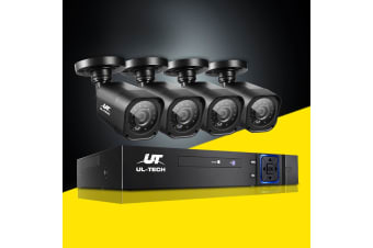 UL-tech CCTV 4 CH DVR 1080P Camera 1500TVL Outdoor IP Home Security System Kit