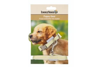 Beeztees Puppy Collar And Lead Set (Yellow)