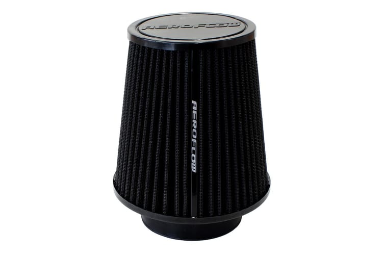 Aeroflow 3-1/2 Clamp-On Tapered Filter 4.6-6.1 O.D, 6.1 High Black
