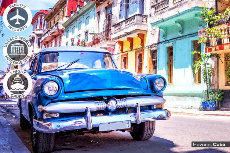 CUBA: 20 Day Cuba Tour and Caribbean Cruise Including Flights for Two (Inside Cabin)