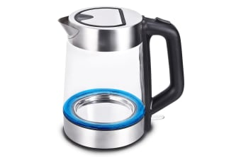 Kitchen Couture Blue LED Stainless Steel Cordless Glass Water Kettle 1.8 Litre