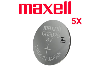 Maxell CR 2025 3V Coin button Lithium Battery Batteries Car key remote control Made in Japan