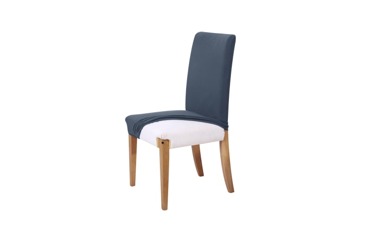 Sherwood Jacquard Easy Stretch Navy 1 seater Chair Cover