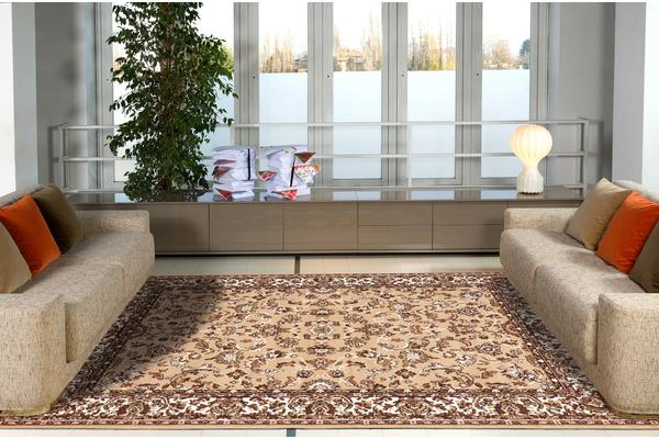 Traditional All over Pattern Rug Beige 230x160cm