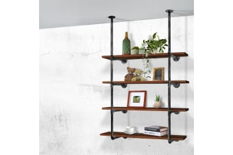 Artiss Industrial DIY Ceiling Pipe Shelf Vintage Rustic Wall Shelves Brackets
