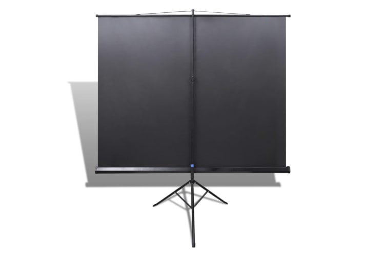 vidaXL Manual Projection Screen with Height Adjustable Stand 200 x 200 cm 1:1