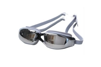 100% UV Protection Unisex No Leaking Triathlon  Swimming Goggles Gray