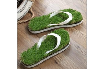 Funky & Comfy Grass Thongs | Flip Flops With Grass On Their Insoles!
