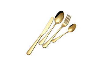 Stainless Steel Flatware Set With Knives Forks Spoons Gold