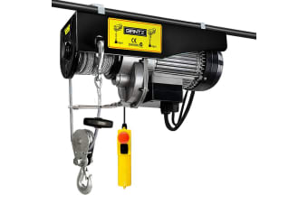 Giantz Electric Hoist Winch Crane 400/800KG 1300W 240V 20M Lifting Chain Rope