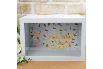 Personalised Christening Wishing Well Card Box