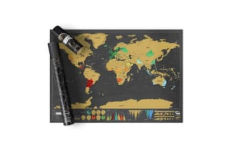 My Travel Scratch Map - Deluxe Executive Edition (Large)