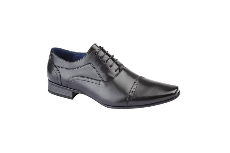 Route 21 Mens 5 Eye Capped Oxford Shoes (Black) (11 UK)