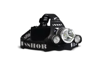 Weisshorn 4 Modes LED Flash Torch Headlamp
